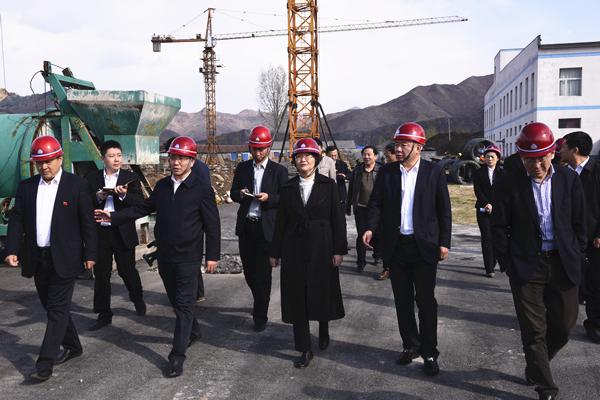 吉林省委常委、宣传部部长王晓萍考察康美新开河