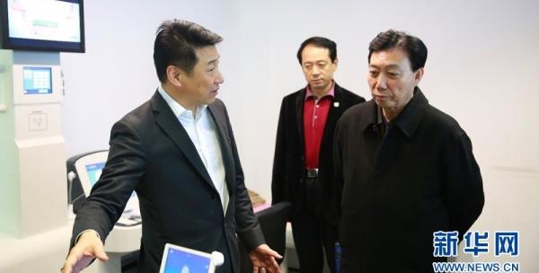 中国健康促进基金会理事长白书忠率队考察康美健康云