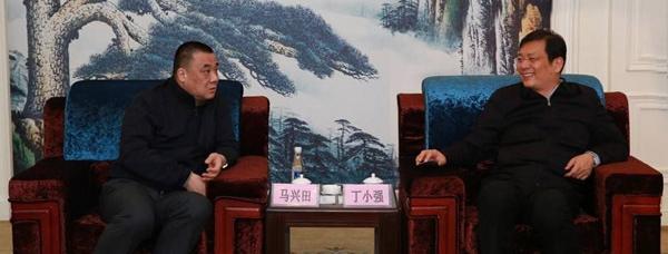 咸宁市委书记丁小强会见康美药业董事长马兴田