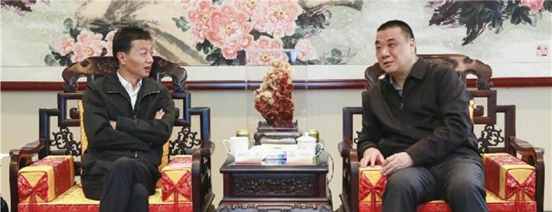 贵阳市长陈晏与康美药业董事长马兴田谋划大健康大数据发展