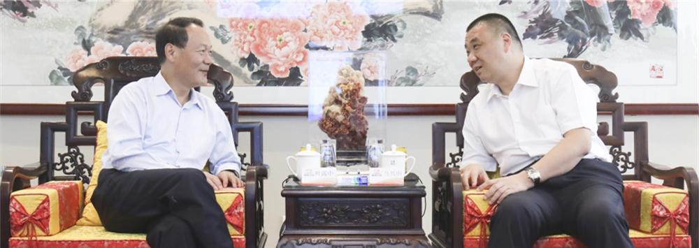 安徽省六安市长叶露中到访康美药业