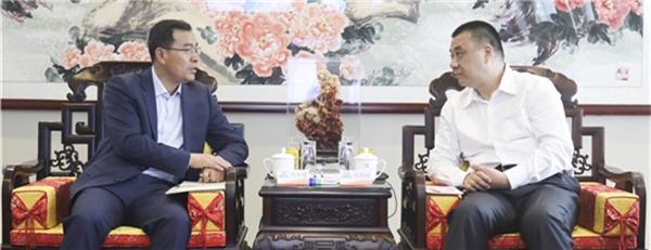 陕西省宝鸡市扶风县长齐军建到访康美药业