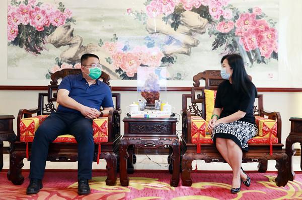 江西省赣江新区管委会副主任应炯率队到访康美药业