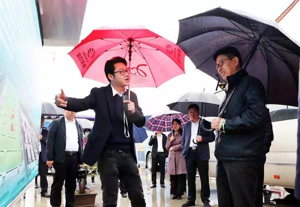甘肃省副省长张锦刚考察康美甘肃西部中药城