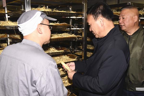 吉林省乡村振兴局副局长金烈调研康美新开河